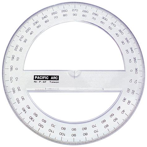 circle protractor template 6 quot circle protractor w80633