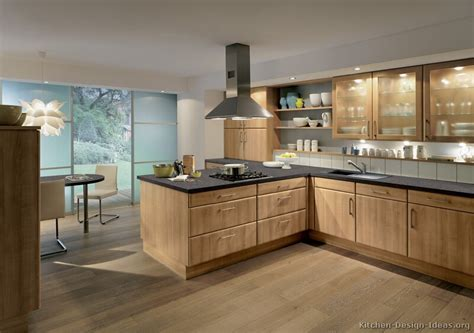Pictures Of Kitchens Modern Medium Wood Kitchen Cabinets Modern Wood Kitchen Design