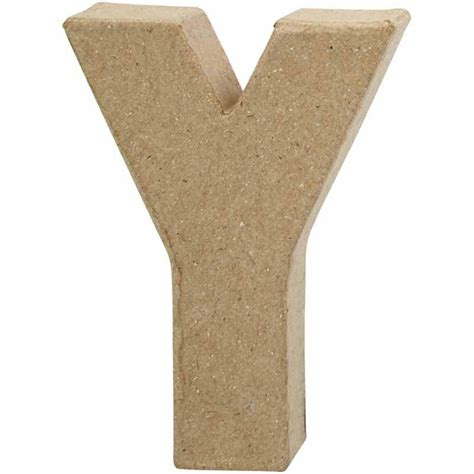 creativ company paper mache shape letter y buy