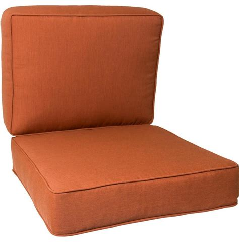 Large Patio Chair Cushions Large Replacement Club Chair Cushion Set With Piping