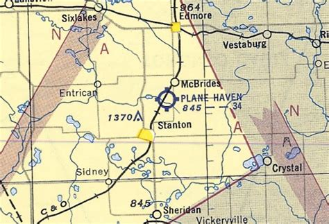 michigan sectional chart abandoned little known airfields southwestern michigan
