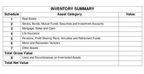 Estate Inventory Template 12 Free Word Excel Pdf Documents Download Free Premium Templates Probate Spreadsheet Template