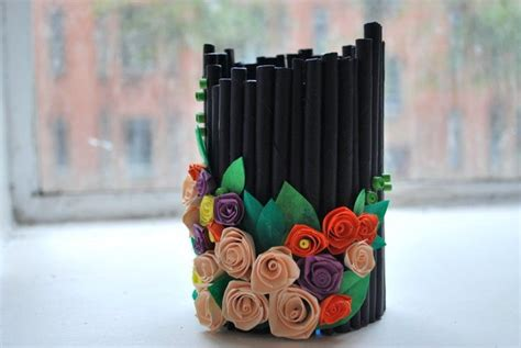 How To Make Pen Stand Using Paper - artist who blogs recycled pen holder ideas