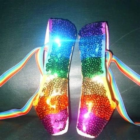 point shoes rainbow sequin pointe shoes me 1
