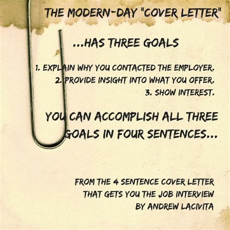 Sentence Cover Letter by The 4 Sentence Cover Letter That Gets You The