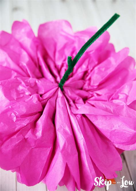 Beautiful Flower Tissue Paper how to make tissue paper flowers skip to my lou