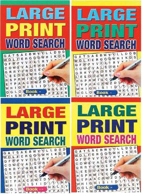 set   large print  size  page word search puzzle books series  ebay
