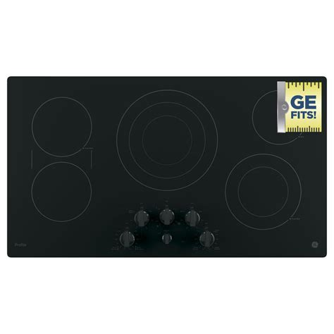 Ge Profile Electric Cooktop Ge Profile 36 In Radiant Electric Cooktop In Black With 5