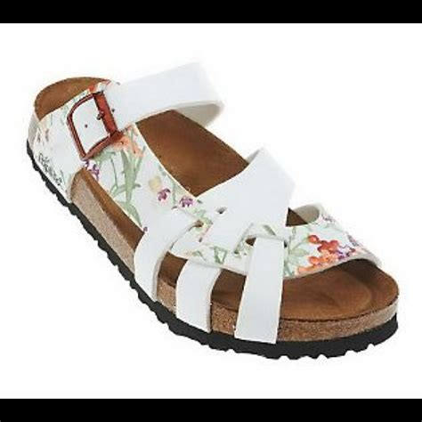 birkenstock bed 56 off birkenstock shoes papillio birkenstock floral pisa soft bed sandals from kaitlyn s
