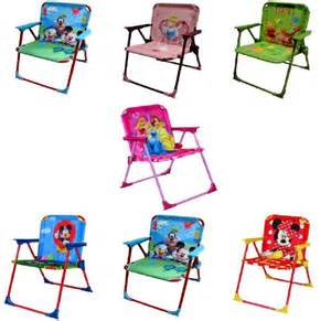 Toddler Patio Chair Disney Childrens Toddler Folding Metal Patio Chair Garden Cing Seat Ebay