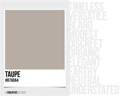 how does color taupe b7ada4 make you feel what emotions does it evoke in design kreative