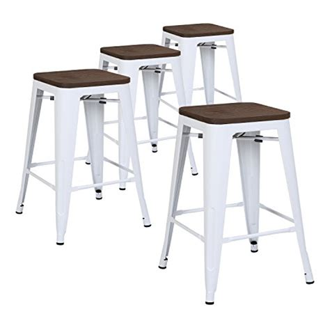 24 Bar Stools Set Of 4 by Lch 24 Metal Industrial Counter Height Bar Stools Set Of