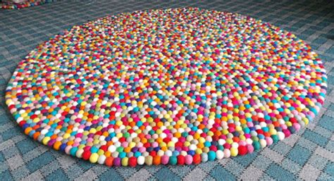 Wool Childrens Rugs by Felt Rug By Felt Yarn Eclectic Rugs By Etsy