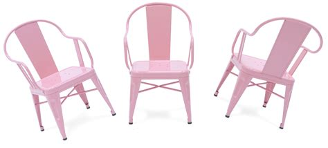 light pink armchair mouette children armchair lacquered steel light pink by