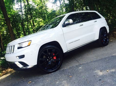 jeep summit black 2015 jeep grand cherokee summit 22 quot matte black rims