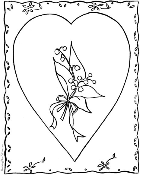 printable card to color valentine card coloring page to print 019