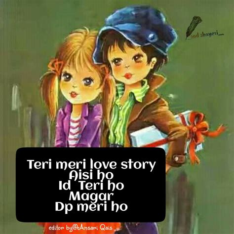 cartoon wallpaper with shayari cartoon pic love shayari quotes love