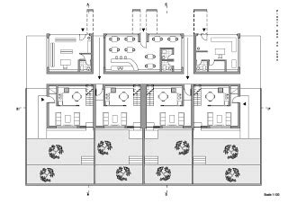 floor plan scale 1 100 arquiprojecto