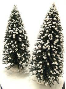 lemax snow covered flocked 12 quot evergreen christmas tree