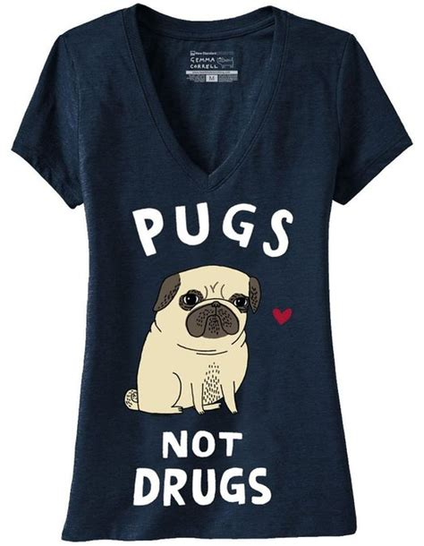 pugs not drugs tshirt pugs not drugs v neck t shirt gifts
