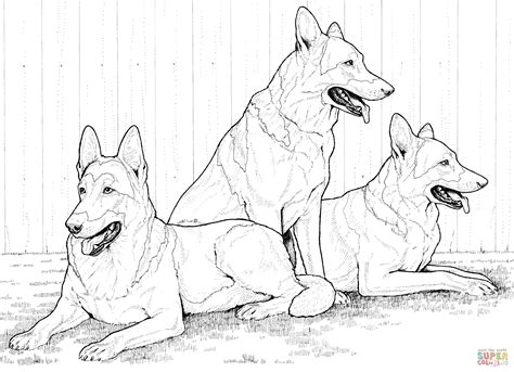 coloring pages of german shepherd german shepherd dogs coloring page free printable
