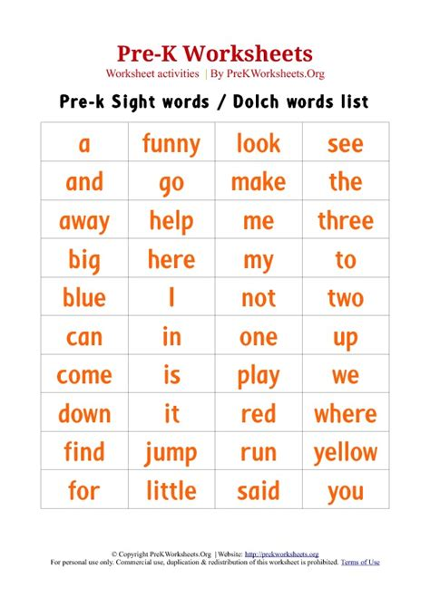 printable dolch word list games color word worksheets search results calendar 2015
