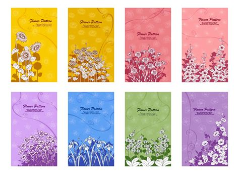 card design template floral vector graphics page 23