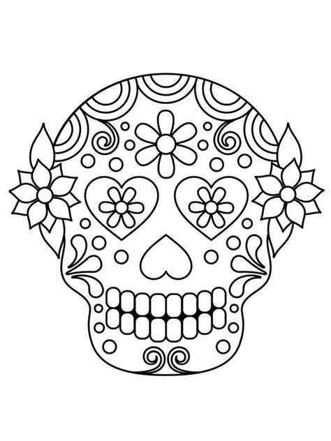 Coloriage T 234 Te De Mort Mexicaine 20 Dessins 224 Imprimer S Coloriage Tete De Mort Mexicaine Dessins L