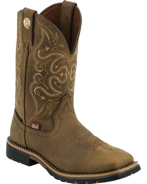 Georges Handmade Boots - justin s george strait brown waterproof