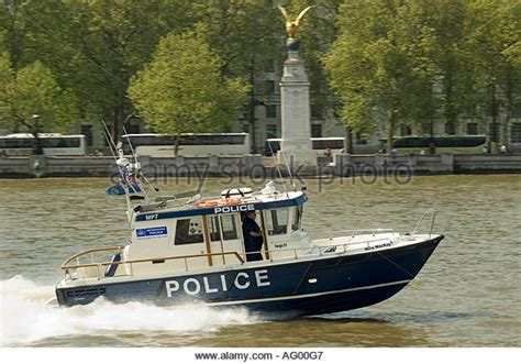 thames river police boats a metropolitan police boat on the river thames stock