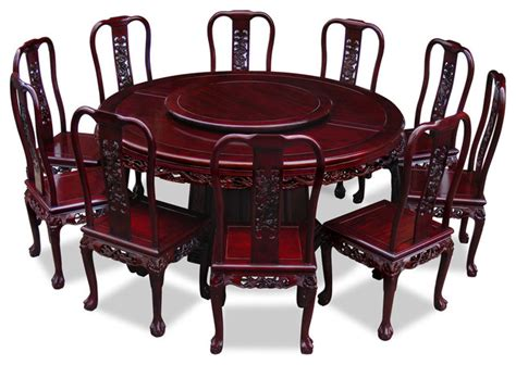 66in rosewood imperial design dining table