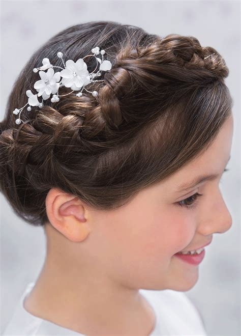 communion hairstyles for girls communion dresses for girls girls communion tiara