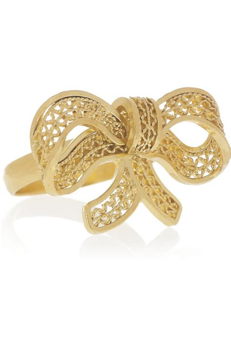 24 Karat Gold by Mallarino Caroline 24 Karat Gold Vermeil Bow Ring