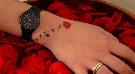 rose bracelet temporary tattoo