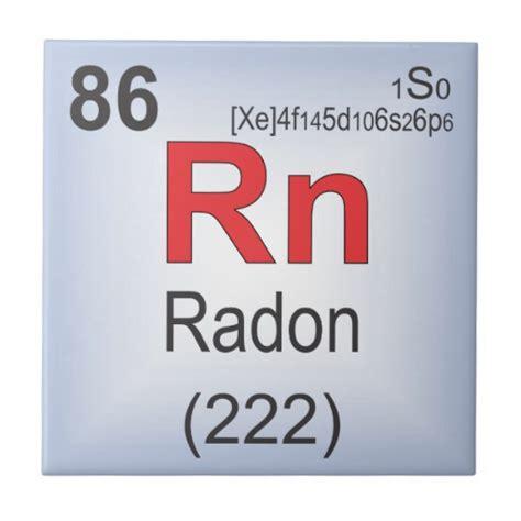 radon individual element of the periodic table tile zazzle