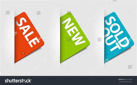 Eshop Gift Card Sale - vector cards for eshop new sale and sold out items 102170335 shutterstock