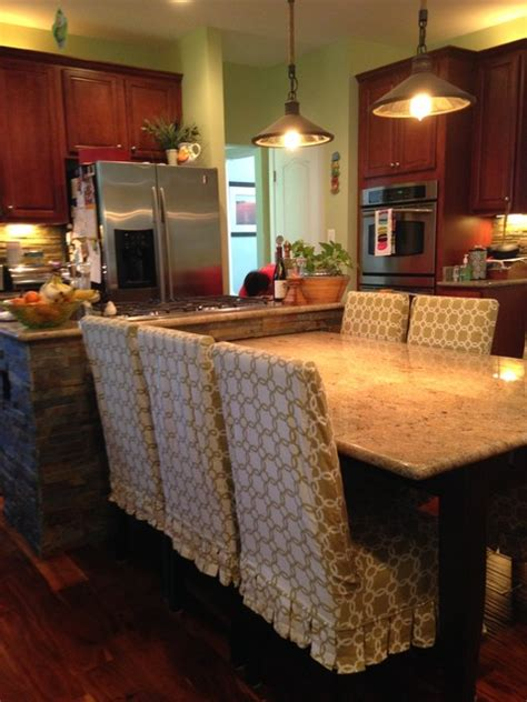 island built in kitchen table rustic kitchen