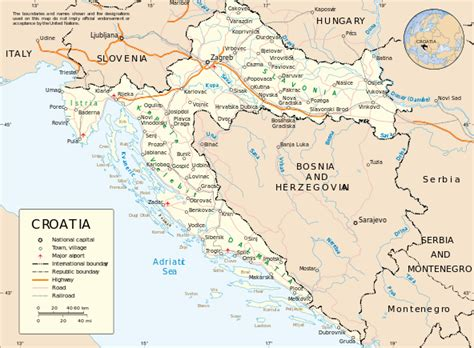a map of file map of croatia un svg