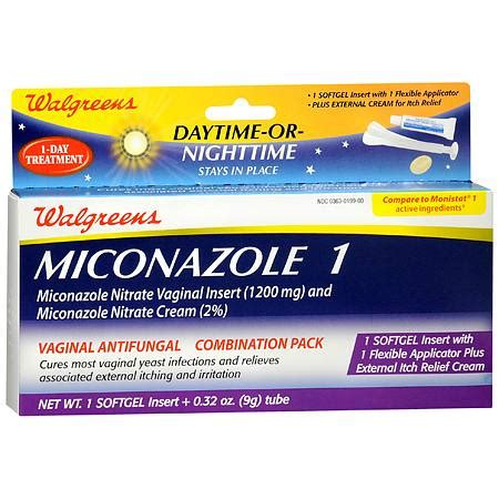 walgreens miconazole 1 vaginal antifungal combination pack