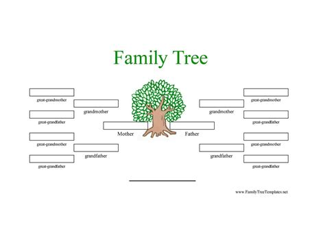 Template Family Tree 12 Generation Family Tree Sle Generations Family Tree