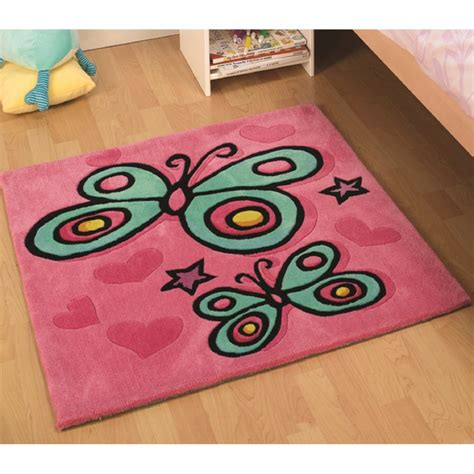 rugs for children pink butterfly children s rug carpet runners uk
