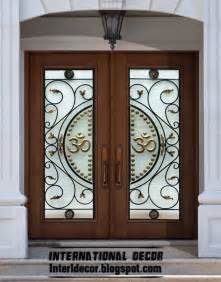 Glass Designs For Doors American Wooden Doors With Stained Glass Designs