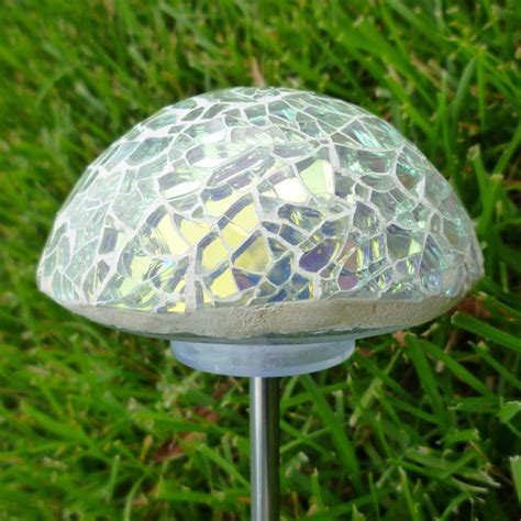 glass mushroom solar lights 19 best images about glass mushrooms on pinterest