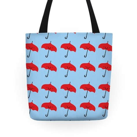cute pattern luggage cute red umbrella pattern tote bag human