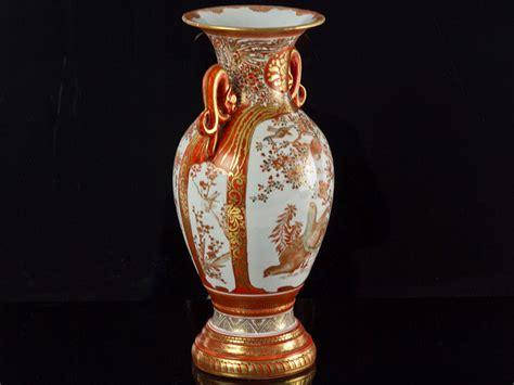 Kutani Vases by Large Japanese Kutani Handled Baluster Vase C1860 Ebay