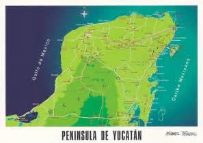 map of mexico yucatan region photo