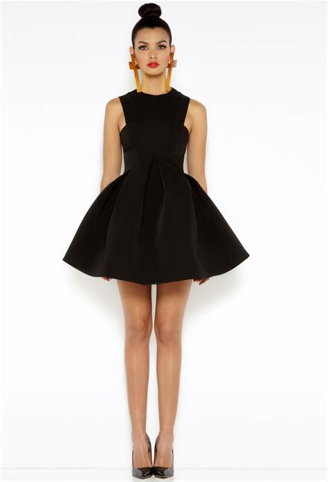 Dres Mimi aq aq major black skater mini dress