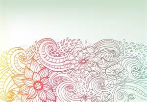 Home Decoration Shop Doodle Color Floral Background Stock Photo Colourbox