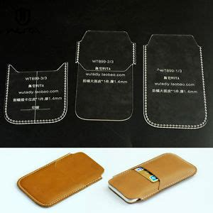 leather card holder template phone acrylic leather template craft pattern for