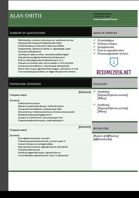 Word 2016 Resume Template by Resume 2016 Resume Templates In Word